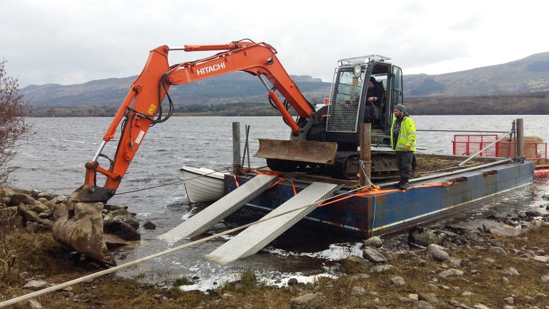 Habitat-Management-Lough-Melvin-Digger-Barge