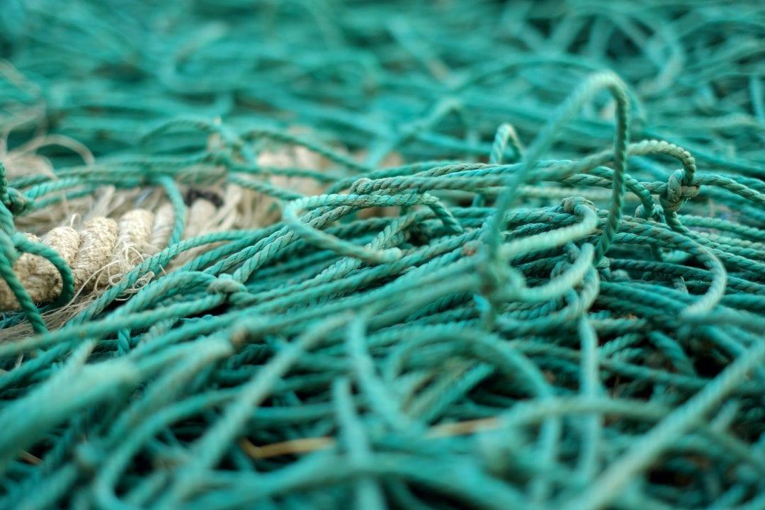 green-fishing-net