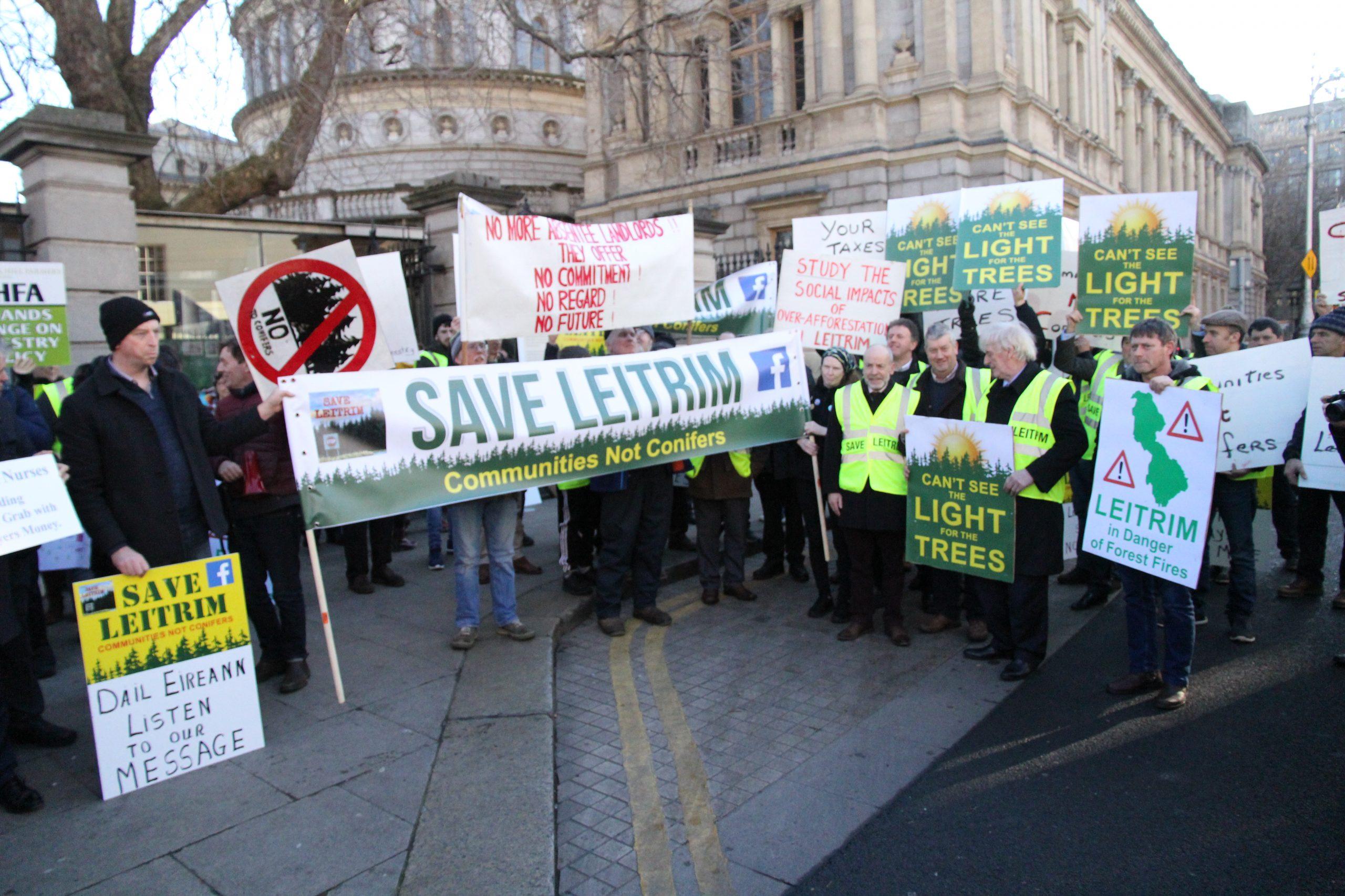 Dáil Éireann Forestry Protest